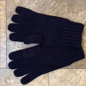 🆕Banana Republic Dark Navy Wool Knit Gloves